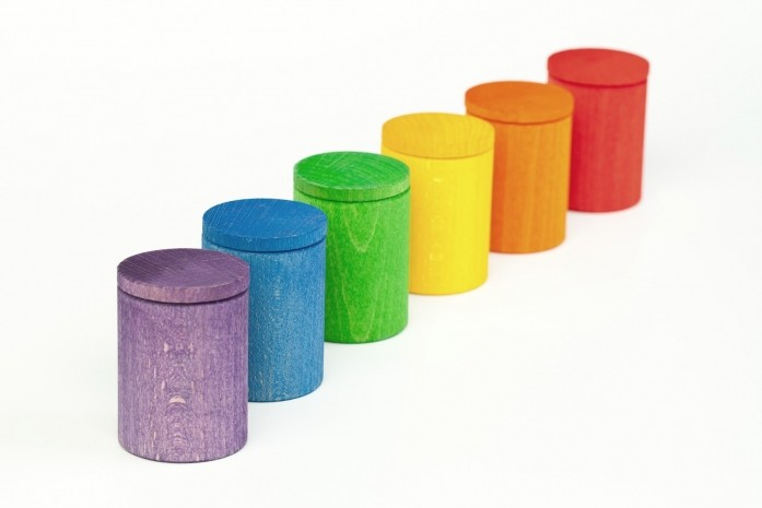 [GRAPAT] 6 Coloured Cups with Cover